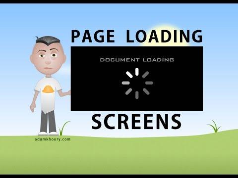 Sayfa Ekran Belge Preloader Öğretici Javascript Css Html Yükleme