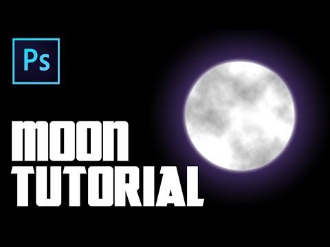 Nasıl Photoshop'ta Bir Ay Oluşturmak İçin
