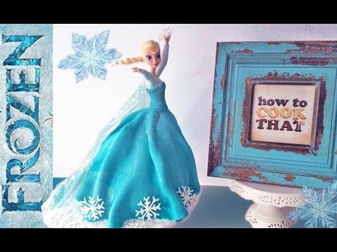 Elsa Prenses Cake Nasıl O Elsa Doll Kek Ann Reardon Cook Frozen