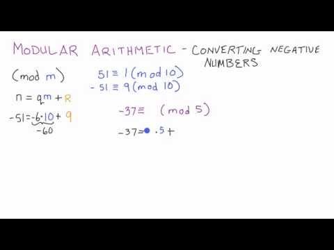 Modüler Aritmetik - Şifreleme - Ders 4 Negatif Bir Tamsayı Dönüştürmek