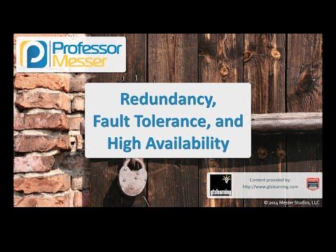 Artıklık, Hataya Dayanıklılık Ve Yüksek Kullanılabilirlik - Sık Güvenlik + Sy0-401: 2.8