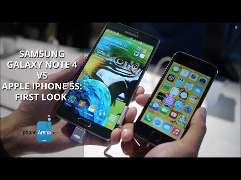 Samsung Galaxy Not 4 Vs Apple İphone 5'ler: İlk Bakış