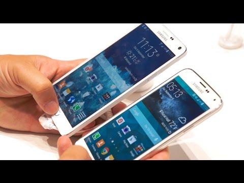 Galaxy Not 4 Vs Galaxy S5: Göstermek Kat Karşılaştırma