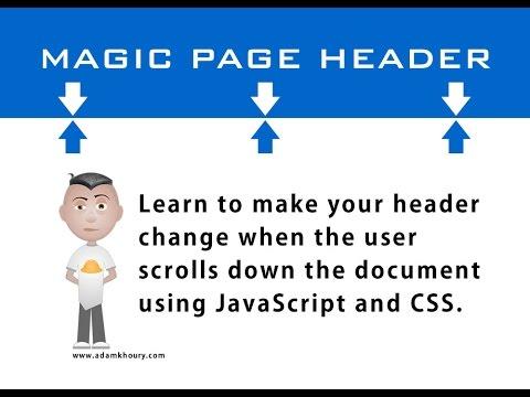 Sihirli Üstbilgi Kaydırma Sayfa Öğretici Javascript Css Html