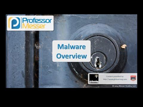 Kötü Amaçlı Yazılım Genel Bakış - Sık Güvenlik + Sy0-401: 3.1