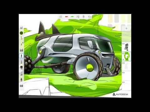 Mobil Cihazlar İçin Yepyeni Autodesk Sketchbook