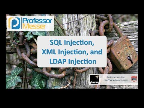 Sql Injection, Xml Enjeksiyon Ve Ldap Enjeksiyon - Sık Güvenlik + Sy0-401: 3.5