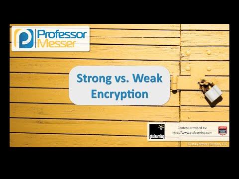 Güçlü Ve Zayıf Şifreleme - Sık Güvenlik + Sy0-401: 6.2