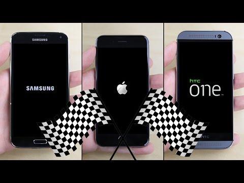 İphone 6 Galaxy S5 Vs Vs Htc Bir (M8) Hız Testi