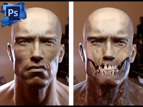 Arnold Schwarzenegger Photoshop Eğitimi: Halloween Kafatası Yüz Öğretici