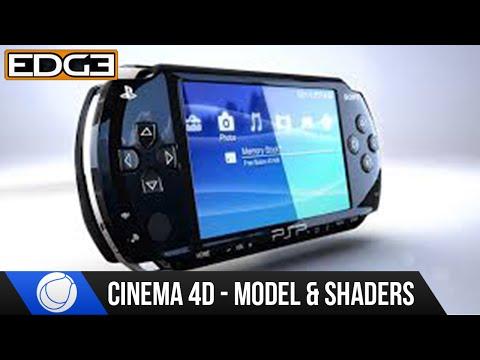 Sinema 4 D Eğitimi - Modelleme Ve Sony Psp Hd #3 Gölgelendirme