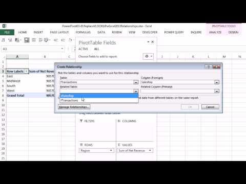 Excel 2013 Powerpivot Temelleri #03: Düşeyara Excel 2013 Veri Modeli Ve İlişkileri İle Değiştirin