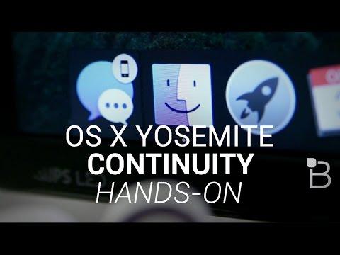 Os X Yosemite Süreklilik Eller