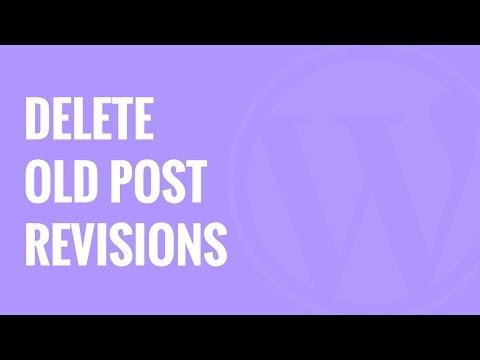 Eski Posta Gözden Geçirip Düzeltme İçinde Wordpress İle Daha İyi Silmek Revizyon Silmek