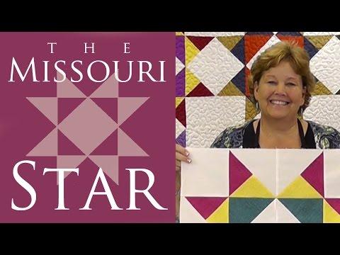 Missouri Yıldızlı Yorgan Blok: Kolay Öğretici Msqc Jenny Anomali İle Kapitone