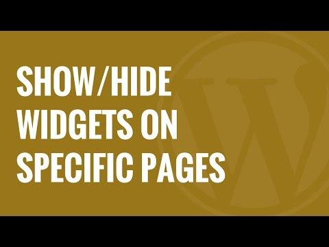 Nasıl Göstereceğinizi Veya Widget Özel Wordpress Sayfaları Gizle