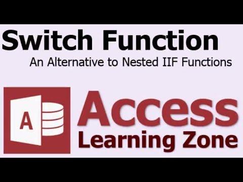 Microsoft Access Anahtar İşlevini - İç İçe Iıf Alternatif