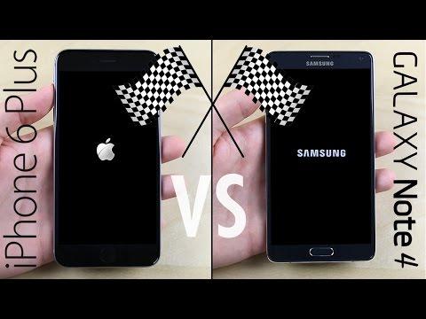 Galaxy Not 4 Vs İphone 6 Plus Hız Testi