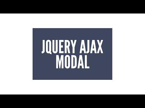 Jquery Ajax Modal/lightbox Eklentisi: Giriş (1/3)