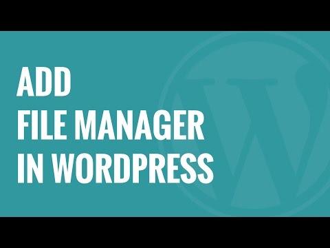 Nasıl Wordpress Wp Dosya Yöneticisi İle Bir Ftp Gibi Dosya Yöneticisi Eklemek İçin