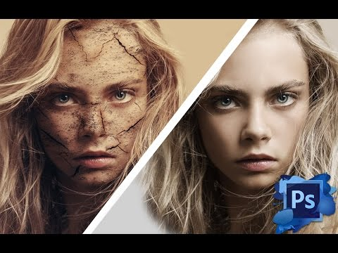 Photoshop Tutorial - Cara Delevingne Nasıl Çatlamak Ve Yüz Tekniği Soyma