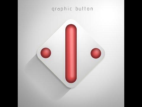 Photoshop Tutorial | Grafik Düğmesini Tasarım | Uzun Gölge