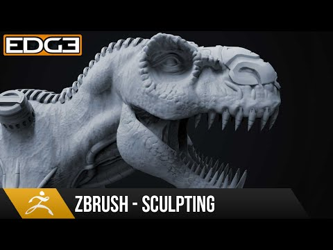 #2 Zbrush Heykel Eğitimi İçin Yeni Başlayanlar Serisi - Organik Ve Sert Bir Yüzeye T-Rex 1080 P Hd
