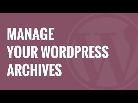 Akıllı Archives Reloaded İle Wordpress Arşivlerini Yönet