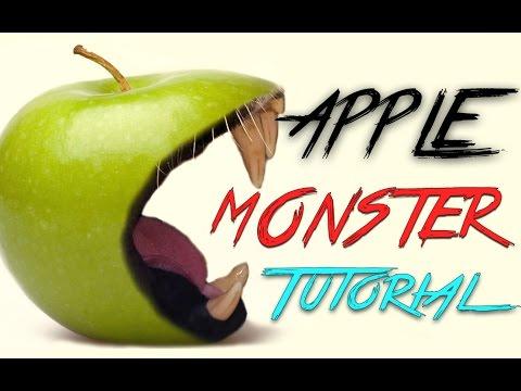 Photoshop Cc Eğitimi: Elma Meyve Canavar Fotoğraf Efektleri Öğretici Yeni