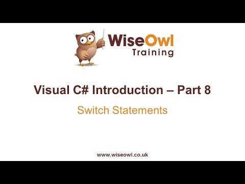 C# Giriş Bölüm 8 - Switch İfadeleri