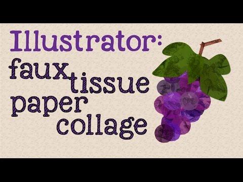 Illustrator - Sahte Kağıt Mendil Kolaj