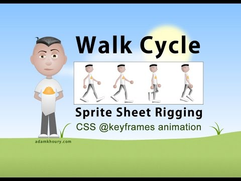 Karakter Yürüyüş Döngüsü @keyframes Sprite Animasyon Css Eğitimi