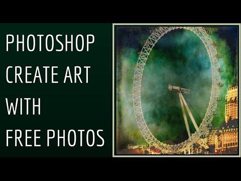 Photoshop - Sanat İle Ücretsiz Görüntüler Oluşturmak