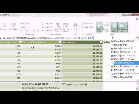 Excel 2013 Powerpivot Temelleri #10: İşlev Değişikliği Filtre Bağlamı İçin Hesaplamak (14 Örnekler)