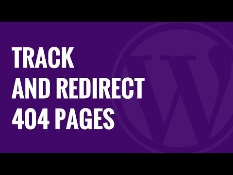 Nasıl 404 Sayfaları İzlemek Ve Onları Wordpress Yeniden Yönlendirmek İçin