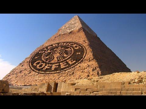 Photoshop: Metin Ve Grafikleri Antik Bir Piramit İçine Bölmek