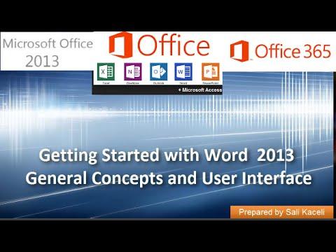 2. Kelime 2013 İle Başlarken: Genel Kavramlar Ve Kullanıcı Arabirimi