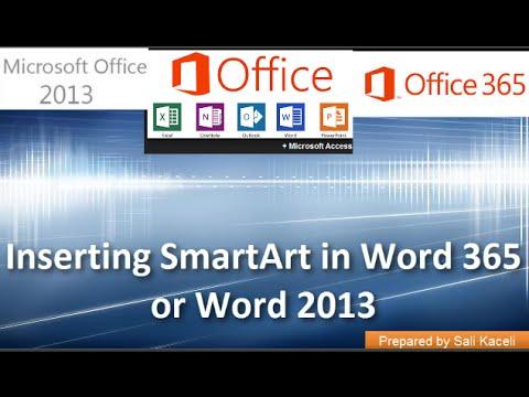 7. Kullanma Ve Smartart Word 365 Veya Word 2013 Özelleştirme