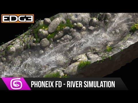 #2 3Ds Max Ve Phoneix Fd Eğitimi - Nehir Simülasyon Kompozisyon Nuke İçinde