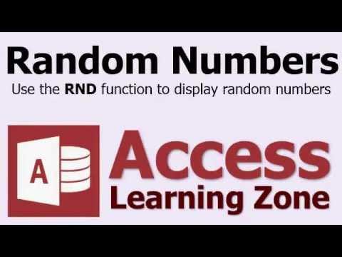Microsoft Access Rasgele Sayılar - Rnd İşlevi