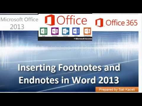 13. Word 2013 Veya 365 Word Dipnotları Ve Sonnotları Ekleme