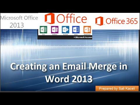 17. Word 2013 Yılında Bir E-Posta Birleştirme Oluşturma
