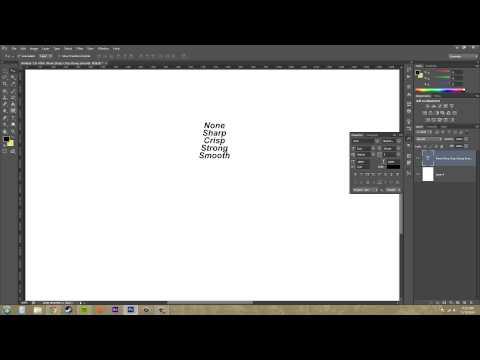 Photoshop Cs6 Öğretici - 183 - Anti Aliasing Yazı Tipi