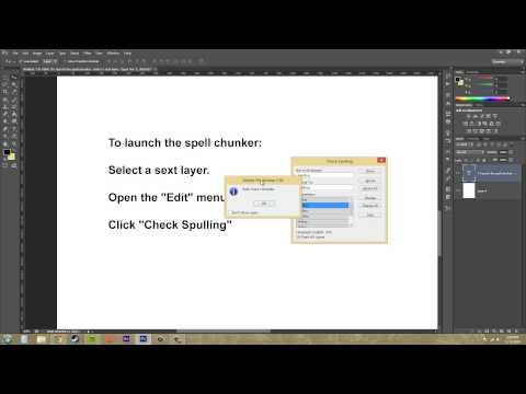 Photoshop Cs6 Öğretici - 186 - Yazım Denetimi
