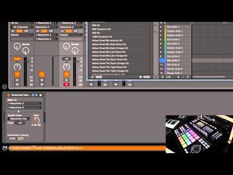 Maschine 2.2 Mıdı Toplu Kayıt Mıdı İçine Ableton Live 9 Gerçek Zamanlı Olarak