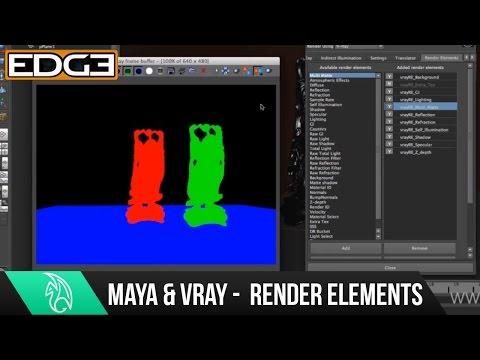 Maya Tutorial Serisinin Yeni Başlayanlar İçin - Render Öğeleri İşleme İçin 06 Vray