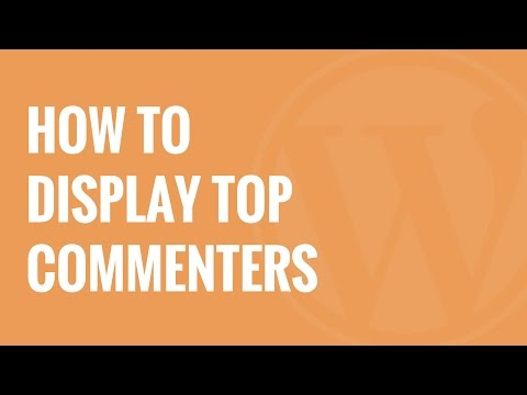 Nasıl Üst Commenters Wordpress Kenar Çubuğu'nda Görüntülemek İçin