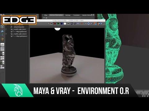 07 Vray Tutorial Serisinin Yeni Başlayanlar İçin - Çevre Geçersiz Kılmaları İşleme Maya İçin
