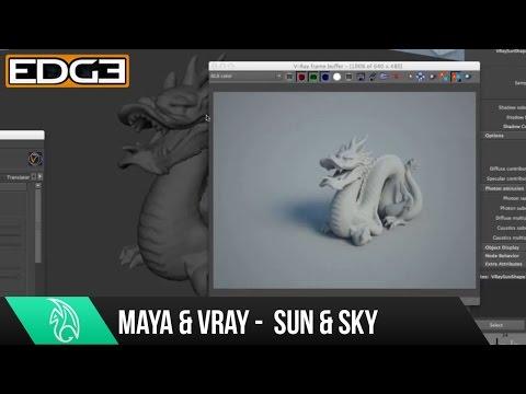 Maya Tutorial Serisinin Yeni Başlayanlar İçin - Sun İşleme İçin 08 Vray Ve Gökyüzü