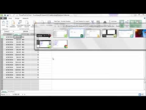 Excel Güç Sorgu #05: Boyut Tablosu Olgu Tablosu İçin Powerpivot Csv Dosyasını İçe Aktarma Sırasında Oluşturmak